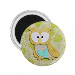 Retro Owl Design 2.25 inch Magnet Locker Refrigerator 27280586