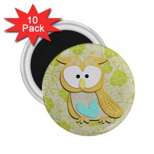 Retro Owl Design 10 pack of 2.25 inch Magnets Locker Party favors 27280591