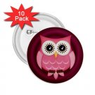 buttons Pink Owl Design 10 pack of 2.25 inch pinback backpack pin 27280599