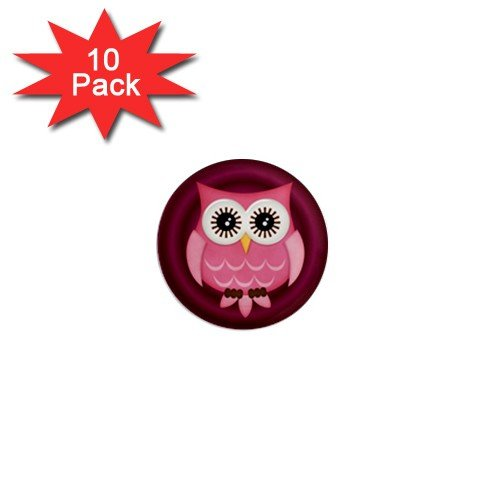 Pink Owl Design Magnets 10 pack of 1 inch button magnets decoration 27280598