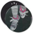 Shoes Artwork COLOSSAL button pinback 6 inch backpack pin