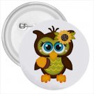 3 inch Owl Design pinback button backpack pin 52623949