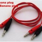 Dual 4mm Banana Plug Test Cable black+red 1M NEW  -  FREE Shipping