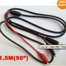 Coaxial Cable BNC Male to Dual Alligator Test Clip lead  -  FREE Shipping