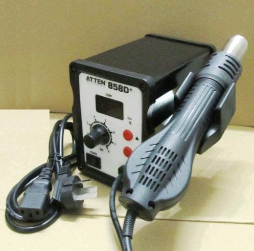 Professional Hot Air Rework Station 858D Solder for SMD 4 nozzles  -  FREE Shipping