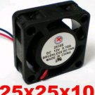 1pc DC Cooling Fan 5V , 12V or 24V 0.1A 25mm x 25 mmx10mm 2pin 2510