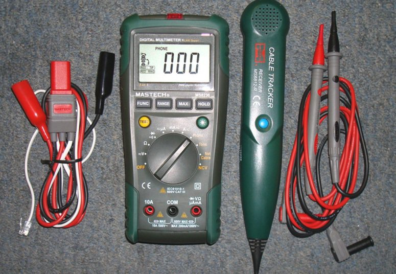 Digital Multimeter + Network cable tester MS8236