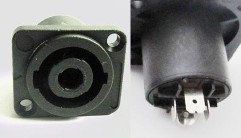 2 pcs Speakon Speaker 4 Pole Chassis Panel Socket Jack SL5281