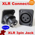 5x XLR 3-Pole Panel Mount Female Jack Chassis Connector