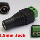 6 pcs 2.5mm CCTV DC Power Male Plug Connector Adapter