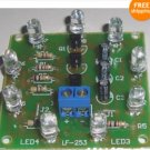 DIY Electronic learning kit rotating running LED PCB