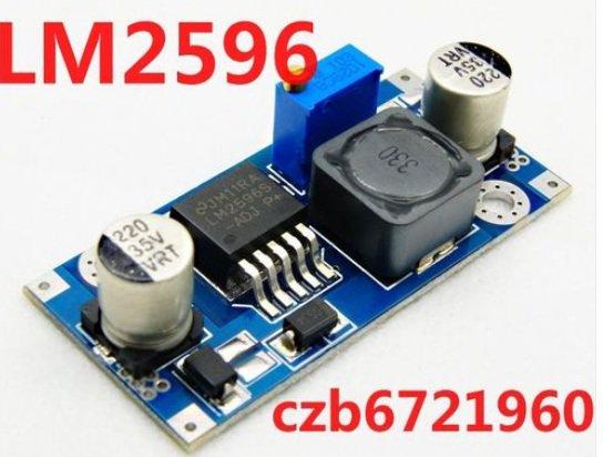 3 pcs LM2596 DC-DC adjustable power step-down module
