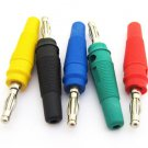 5x 5 Colors Nickel Plated Banana Plug Male 55mm SL2025