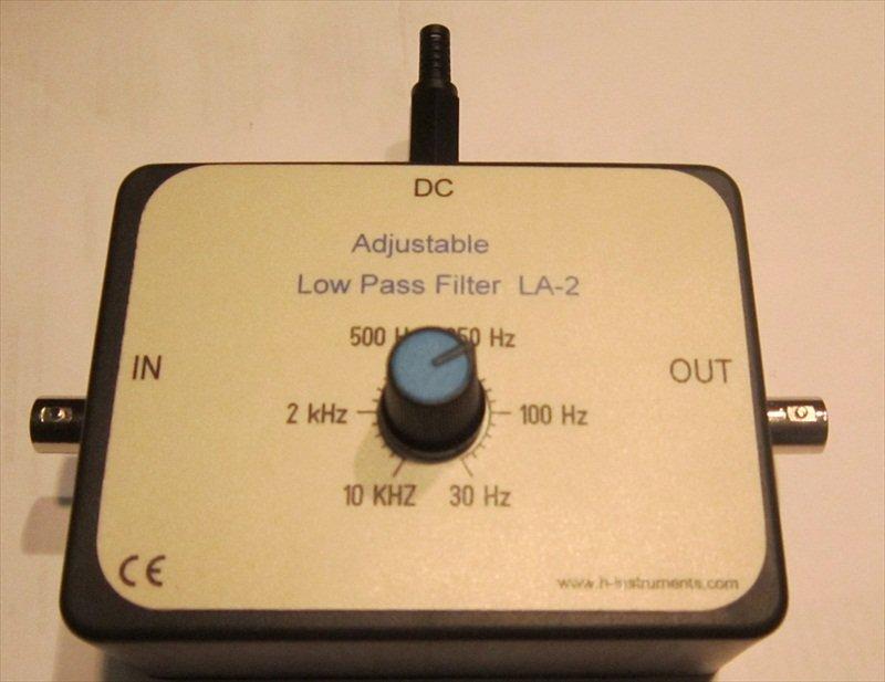 Adjustable Low Pass Filter LA-2, 30 Hz to 10 kHz