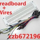 700 Point Solderless PCB Breadboard + 65Pcs Jumpwires For Arduino