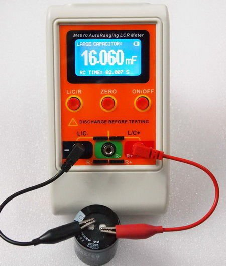 LCR meter with wide measuring range and high resolution.  M4070