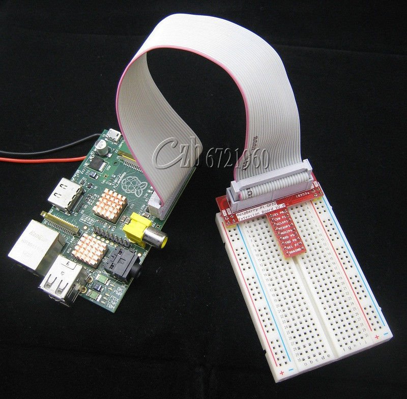 Raspberry PI GPIO Extension Board + 26 Pin Extension Flat Ribbon Cable Wire