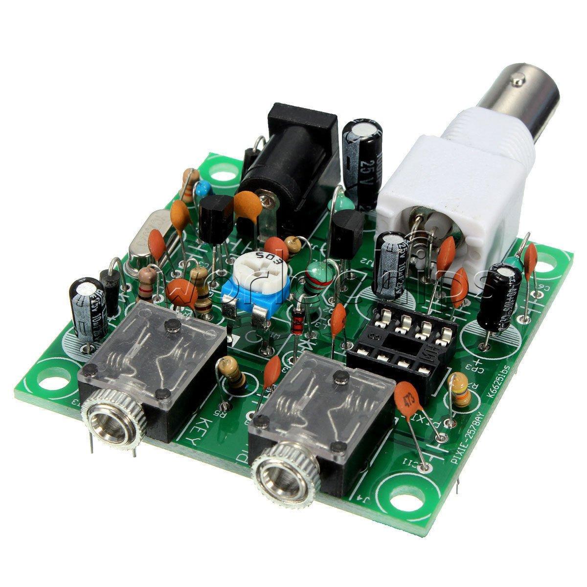 40M CW RADIO Shortwave Transmitter QRP Pixie Kit Receiver 7.023-7.026MHz
