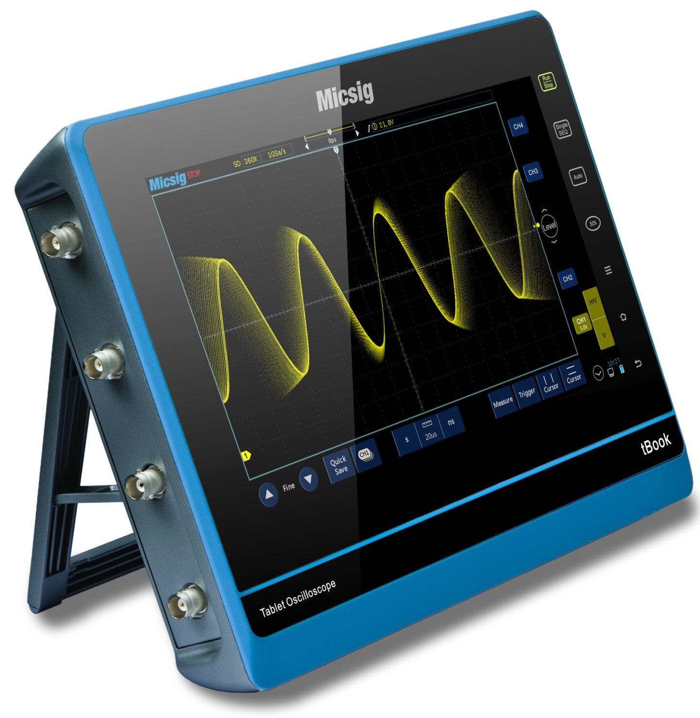 "Tablet Oscilloscope MICSIG TO102I 10.1"" 2 ch 100MHz 1GS/s"