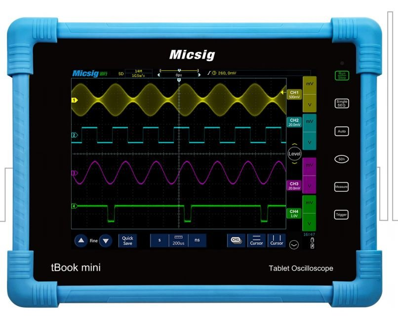 """Tablet Oscilloscope MICSIG TO1072 8"""" 2 ch 70MHz 1GS/s"""