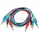 4x High Quality Soft Silicone Banana to Banana Plug Test Cable Lead for Multimeter 4mm