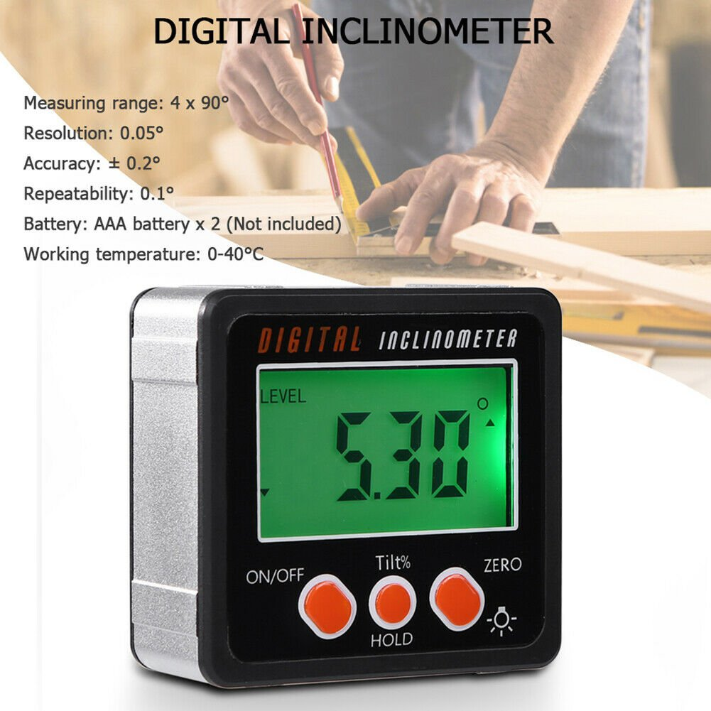 Smart Digital Protractor Gauge Level Angle Finder Inclinometer Magnet Base