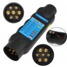 7Pin 12V Trailer Socket Tester Electrical Tow Bar Wiring Circuit Light Test Tool