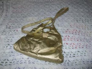 Vintage HL Glossy Gold Handbag Not for Wallflowers