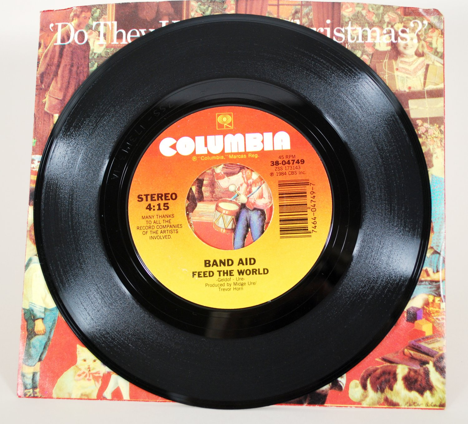 Band Aid - Do They Know It's Christmas 45 rpm Record