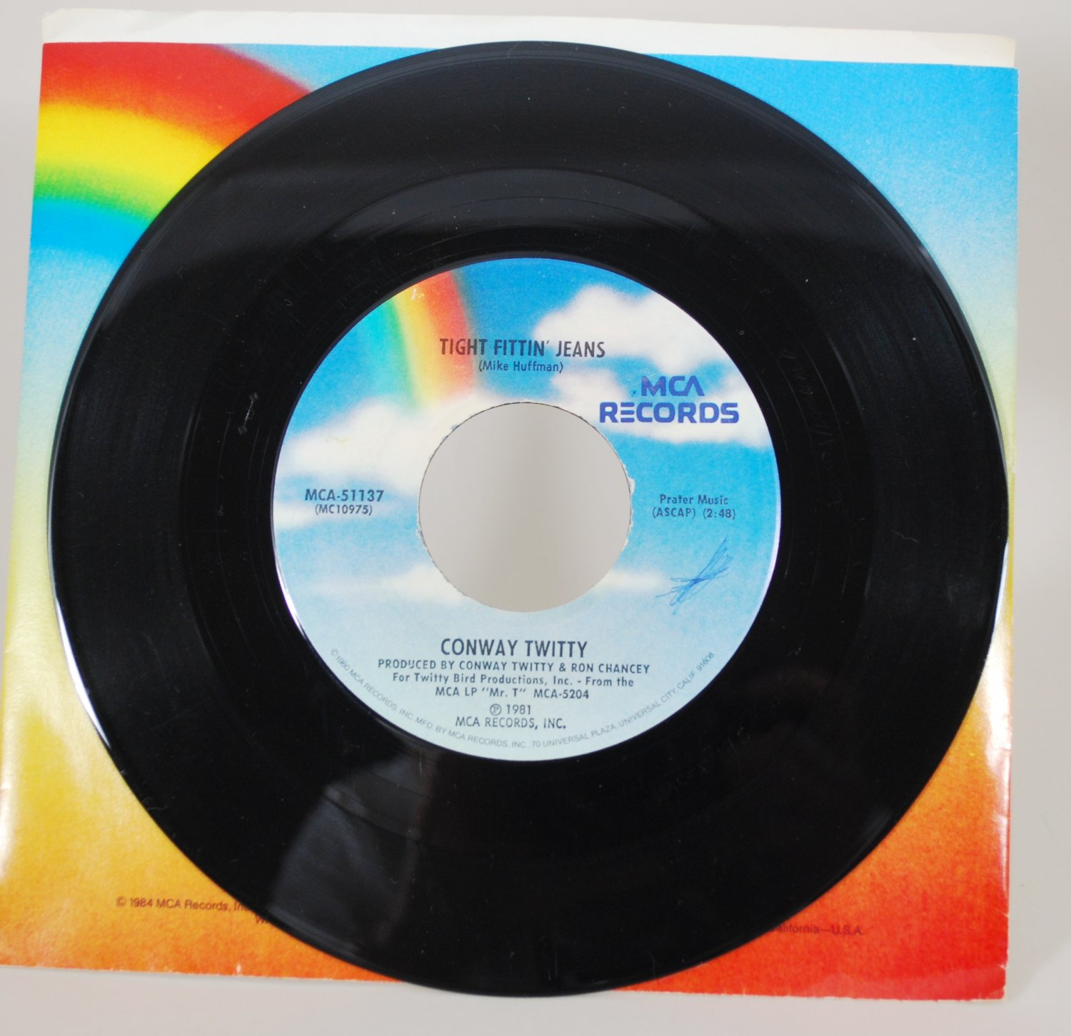 Conway Twitty - Tight Fittin' Jeans Vinyl Record 45 rpm