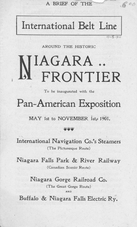 Pan-Am Expo Int'l Belt Line brochure