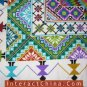 """Hand Cross Stitch Quilt Tapestry Throw 43x43"""" Embroidery Textile Sewing Art #106"""
