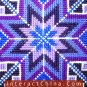"""Hand Cross Stitch Quilt Tapestry Throw 15x74"""" Embroidery Textile Sewing Art #128"""