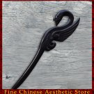 Luxury Solid Ebony Wood Hair Accessories Stick Pin 100% Hand Carved Wood Art #127 - FREE SHIPPING