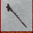Luxury Solid Ebony Wood Hair Accessories Stick Pin 100% Hand Carved Wood Art #131 - FREE SHIPPING