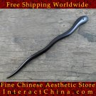Luxury Solid Ebony Wood Hair Accessories Stick Pin 100% Hand Carved Wood Art #101 - FREE SHIPPING