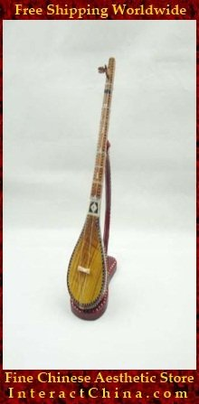 Uyghur Lute Silk Road String Musical Instrument Xinjiang World Music Dutar 45cm