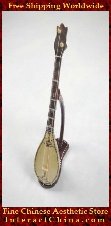 Uyghur Lute Silk Road String Musical Instrument Xinjiang World Music Dombura 45cm