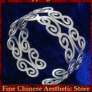 Fine 999 Cuff Bracelet High Purity Sterling Silver Jewelry 100% Handcrafted #116