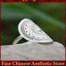 Fine 99 Ring High Purity Sterling Silver Jewelry 100% Handcrafted Art #104