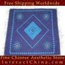 "Hand Cross Stitch Quilt Tapestry Throw 36x36"" Embroidery Textile Sewing Art #121"