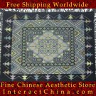 "Hand Cross Stitch Quilt Tapestry Throw 46x48"" Embroidery Textile Sewing Art #119"