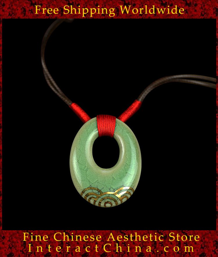 Deluxe Porcelain Pendant Necklace Jewelry 100% Handcrafted Jingdezhen Art 101 - FREE SHIPPING