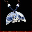 Deluxe Porcelain Pendant Necklace Jewelry 100% Handcrafted Jingdezhen Art 103 - FREE SHIPPING