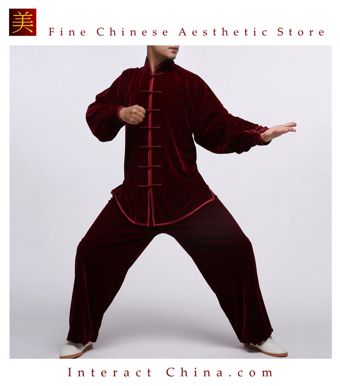 Flowing Unisex Velvet Suit for Tai Chi and Leisure Time in Chinese Style #105