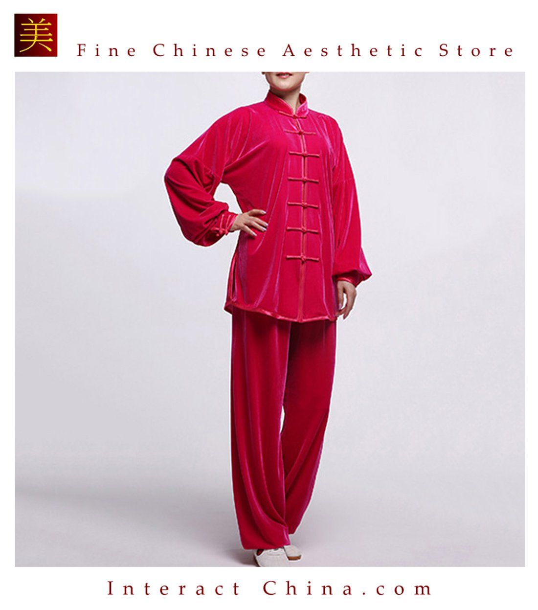 Flowing Unisex Velvet Suit for Tai Chi and Leisure Time in Chinese Style #106