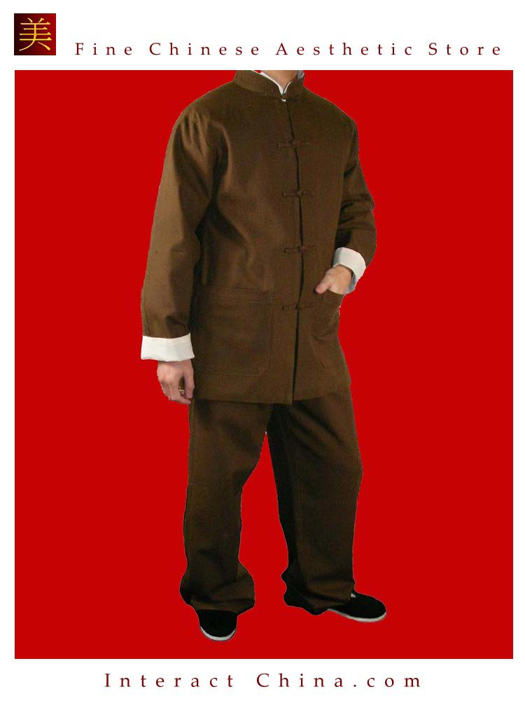 Premium Linen Brown Kung Fu Martial Arts Taichi Uniform Suit XS-XL or Tailor Custom Made