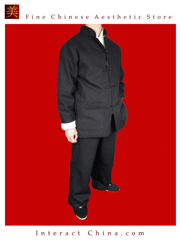 Fine Linen Black Kung Fu Martial Arts Tai Chi Uniform Suit XS-XL or Tailor Custom Made