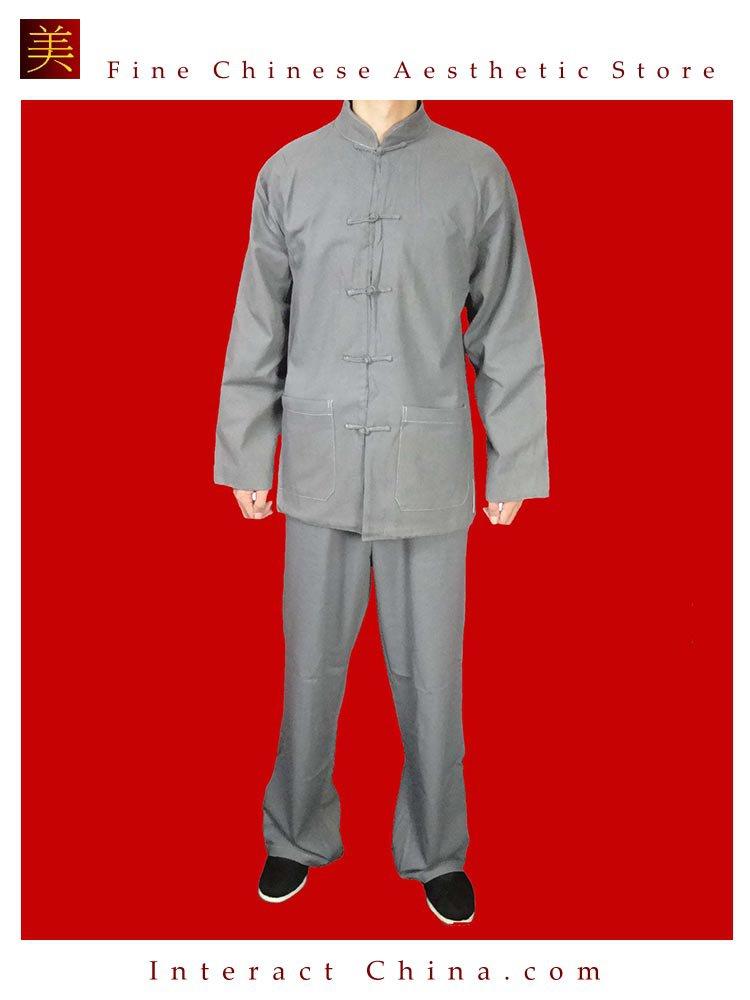 Fine Linen Grey Kung Fu Martial Arts Tai Chi Uniform Suit XS-XL or Tailor Custom Made