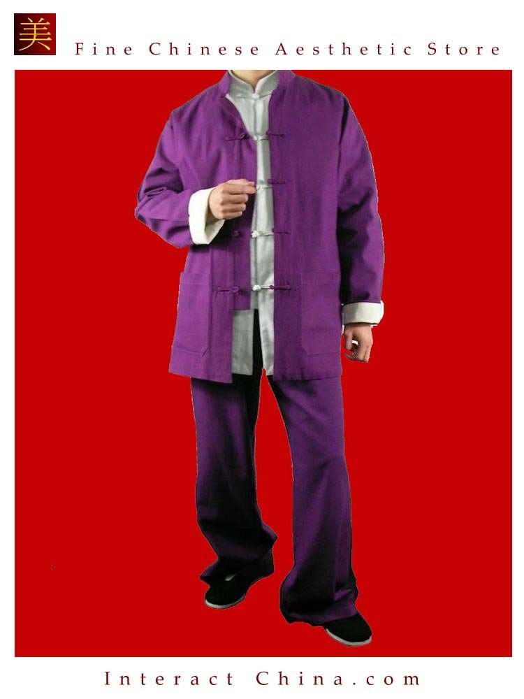 Fine Linen Purple Kung Fu Martial Arts Tai Chi Uniform Suit XS-XL or Tailor Custom Made